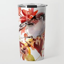 Bird and The Fall Travel Mug