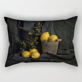 Cassic still life with lemons Rectangular Pillow