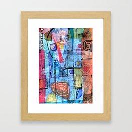 Open Abstract 1 Framed Art Print