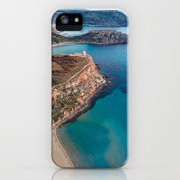 Golden Bay Beaches Malta   Aerial  iPhone Case