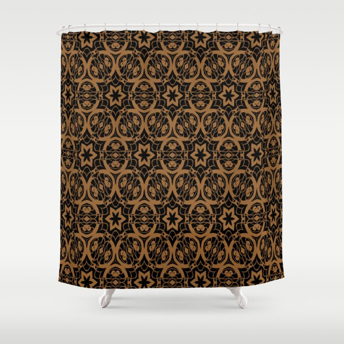 Black and Bronze Oils 2675 Shower Curtain