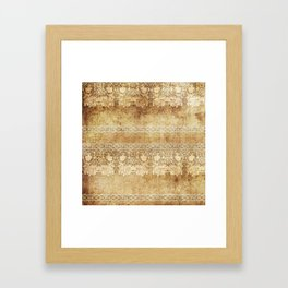 Vintage. The old lace. Vintage fabric . Framed Art Print