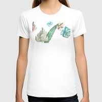 leah flores T-shirts featuring flores by Lua Fraga