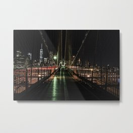 You'll never walk alone - Brooklyn Bridge Metal Print