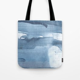 Gray Blue streaked wash drawing painting Tote Bag