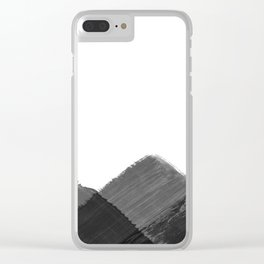 Minimalist Mountain Ink Art Print Clear iPhone Case