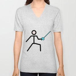 Fencing Cute Gift Idea Unisex V-Neck