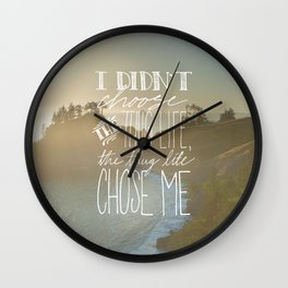 Oddly Placed Quotes 2 : Thug Life Wall Clock