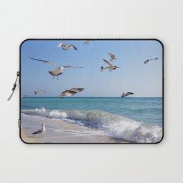the ocean and birds Laptop Sleeve