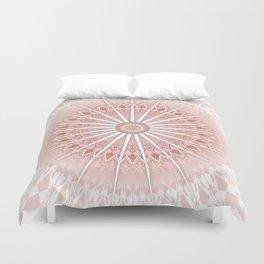 Blush Apricot Mandala Duvet Cover