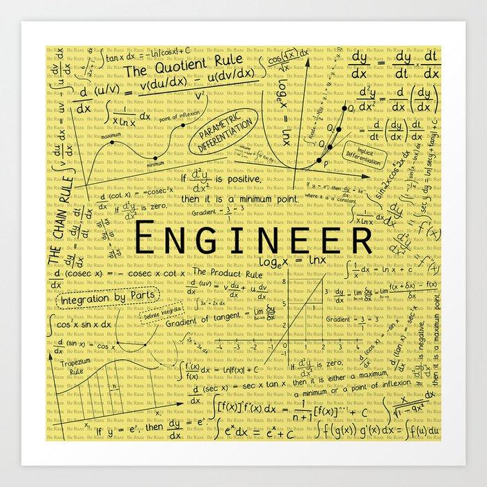 Yellow - Engineer Art Print