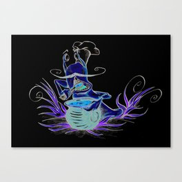 snail cartoon Canvas Print