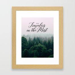 Travelers in the Mist Framed Art Print