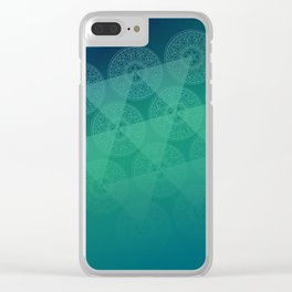 blue oriental shadow Clear iPhone Case