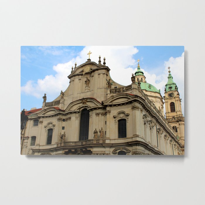 St. Nicholas Church, Prague Metal Print