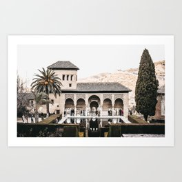 Alhambra Palace at Dusk | Spanish Architecture, Granada | Fine art travel prints | saige ash studio Art Print