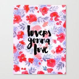 Lovers [Collaboration with Jacqueline Maldonado] Canvas Print