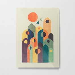 Ancient city Metal Print
