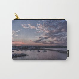 Sunset over Rockport Harbor Carry-All Pouch