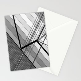 Gray Geometry 2 Stationery Cards