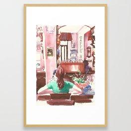 Caffè Boetto. Girls talk Framed Art Print