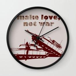 Make love, not war! Wall Clock