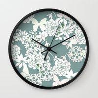 Papercut snowdrops Wall Clock