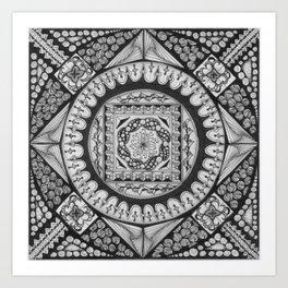 Zendala - Zentangle®-Inspired Art - ZIA 29 Art Print