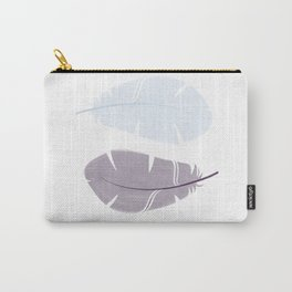Feathers blue black Carry-All Pouch