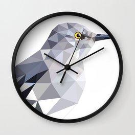 Gray Bird art Mocking Bird Geometric Wall Clock