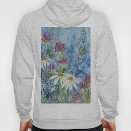 Wildflower Blues Garden Flower Acrylic Art Hoody