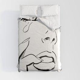 sad girl Comforters