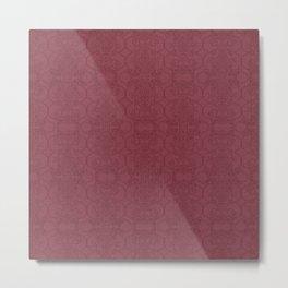 Rasberry Vertical Lace Metal Print