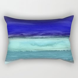 Midnight Waves Seascape Rectangular Pillow