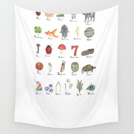 Good Luck from A - Z Wall Tapestry