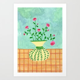 Flowers on a vase II Art Print