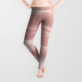 Geode Crystal Rose Gold Pink Leggings