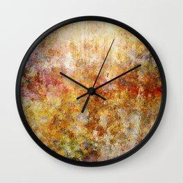 Mod Nature Trail Multicolor Pattern Wall Clock