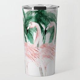 Three Flamingos Travel Mug
