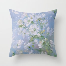 Sweet Wild Roses Throw Pillow
