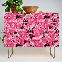 Russian Rooftop Pattern Credenza
