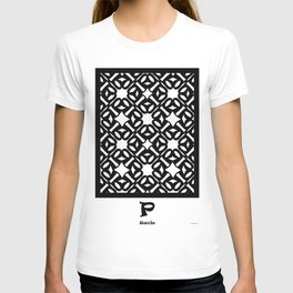 LETTERNS - P - Ravie T-shirt