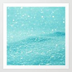 Glitter Turquoise Art Print
