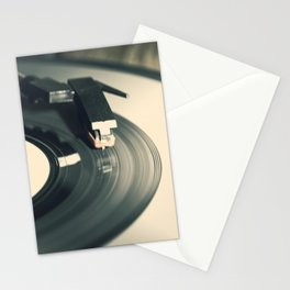 Vintage Vinyl Record 2 Stationery Cards