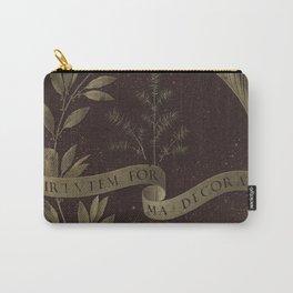 "Leonardo Da Vinci ""Wreath of Laurel, Palm, and Juniper with a Scroll inscribed Virtutem Forma Decor"" Carry-All Pouch"