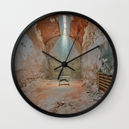 Abandoned Prison Cell Wall Clock