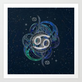 Cancer Zodiac Sign Water element Art Print