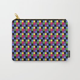 Disco Lights Blocks, Checkered Pattern - Pastel Colors Carry-All Pouch