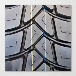 Background tread pattern truck tire Canvas Print