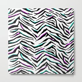 Zazzy Zebra Animal Print Metal Print